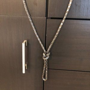 Metal, knotted necklace